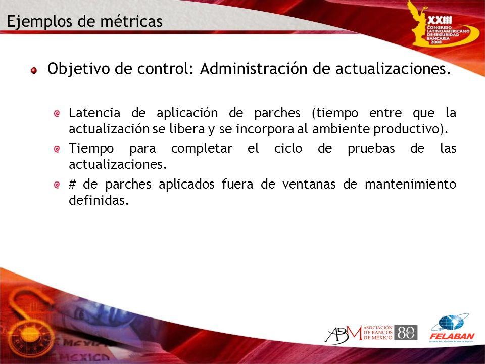 Objetivo de control: Administración de actualizaciones.