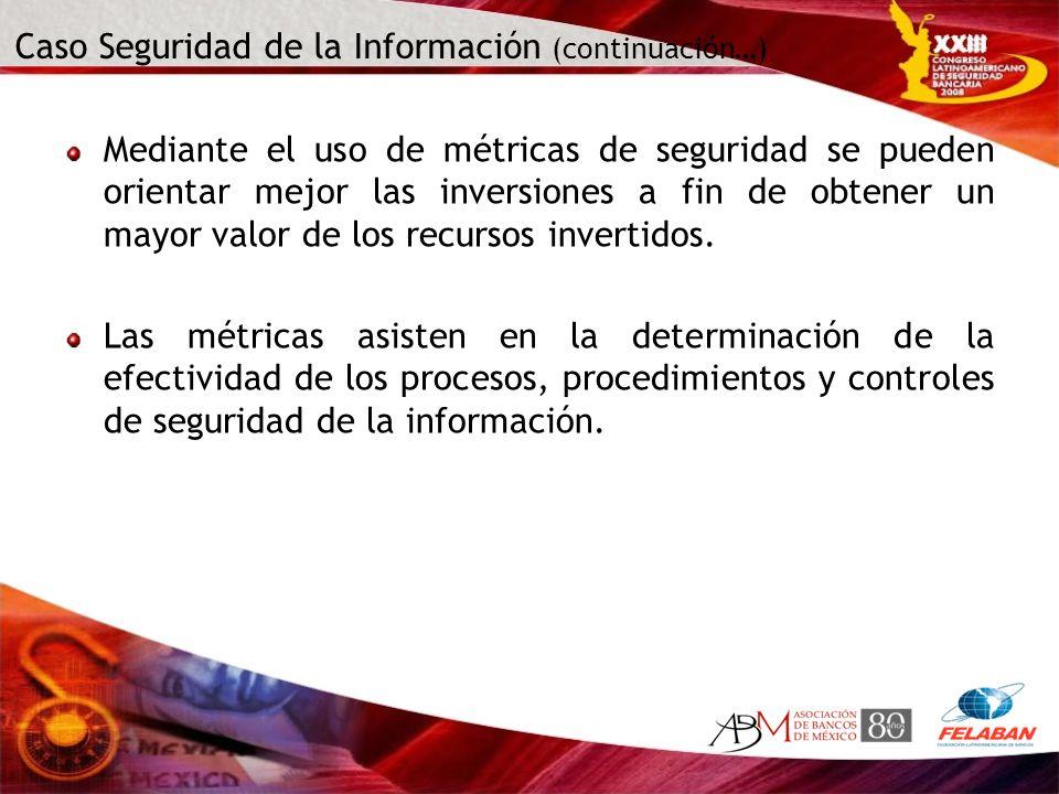 Caso Seguridad de la Información (continuación…)