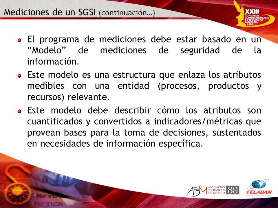 Mediciones de un SGSI (continuación…)