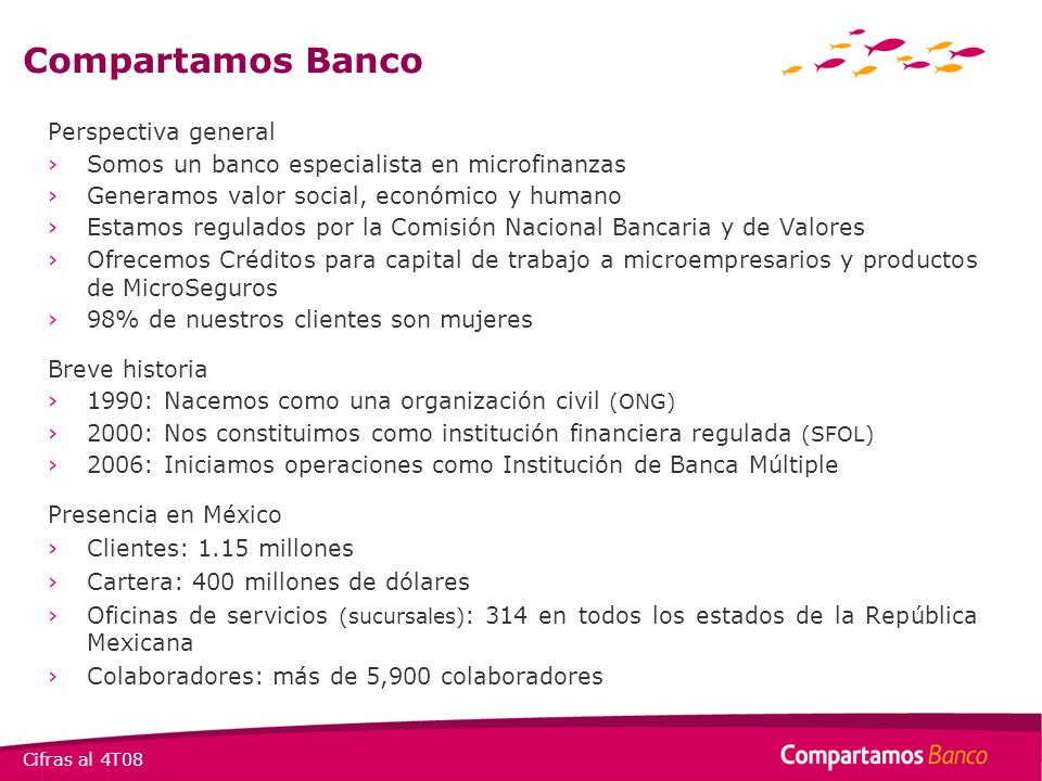 Compartamos Banco Perspectiva general