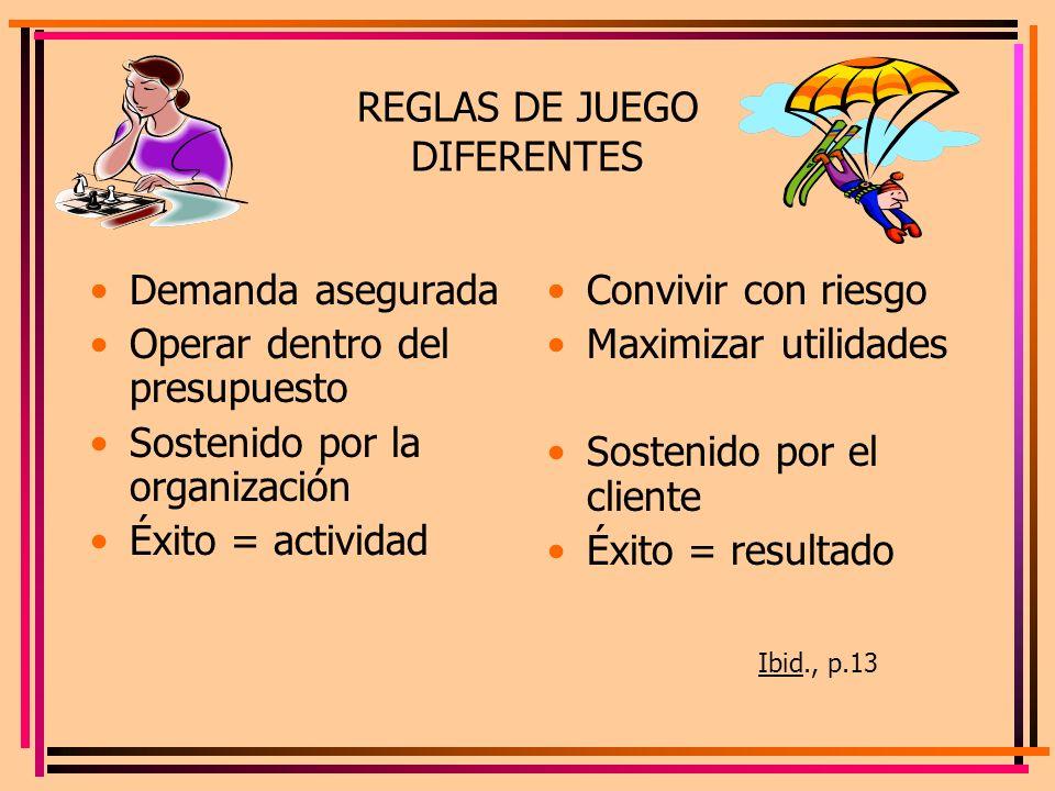 REGLAS DE JUEGO DIFERENTES