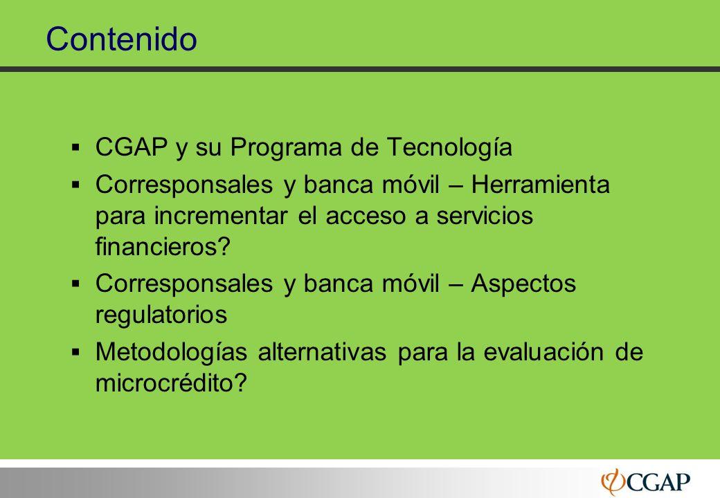 Contenido CGAP y su Programa de Tecnología
