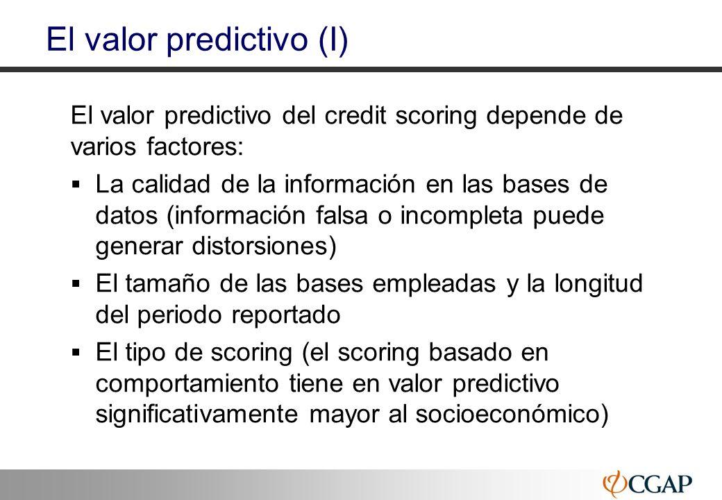 El valor predictivo (I)