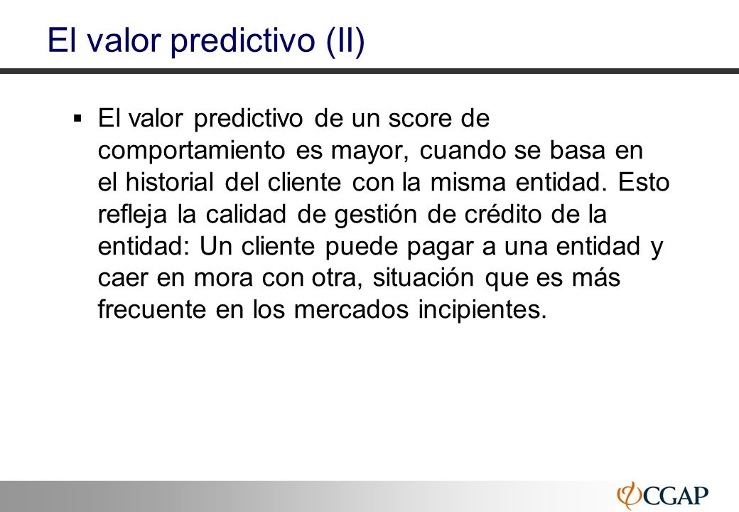 El valor predictivo (II)