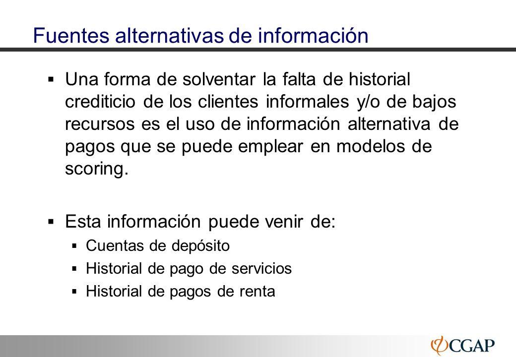 Fuentes alternativas de información