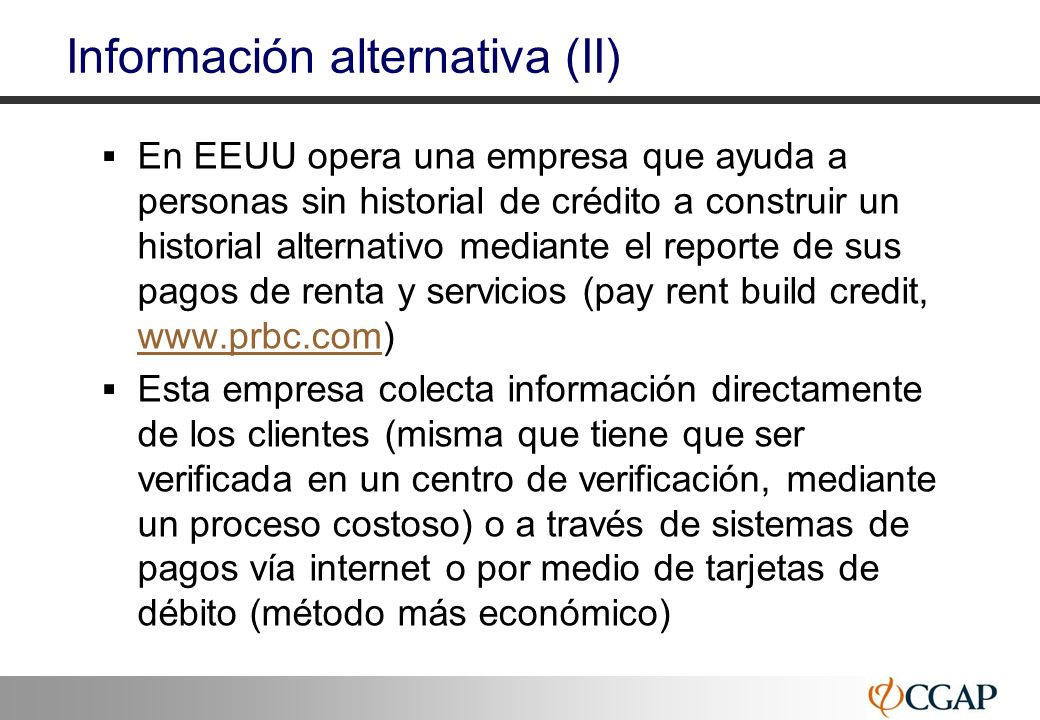 Información alternativa (II)