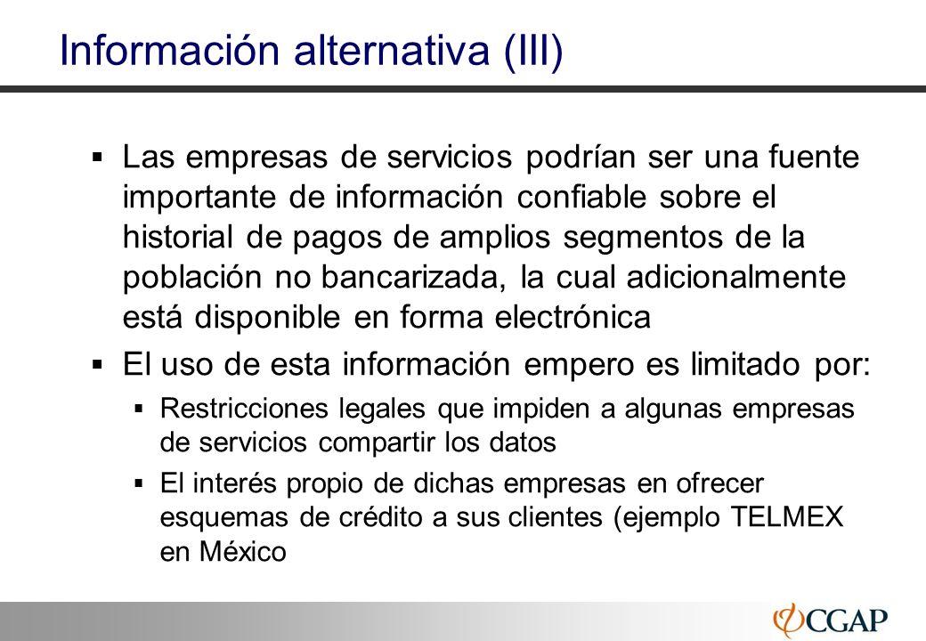 Información alternativa (III)