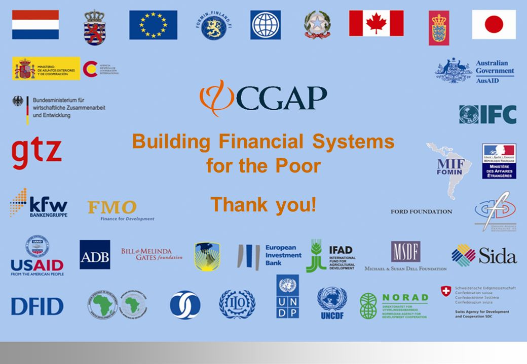 Building Financial Systems for the Poor