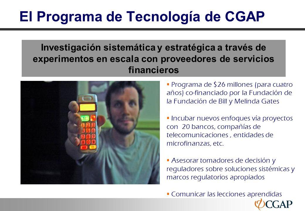 El Programa de Tecnología de CGAP