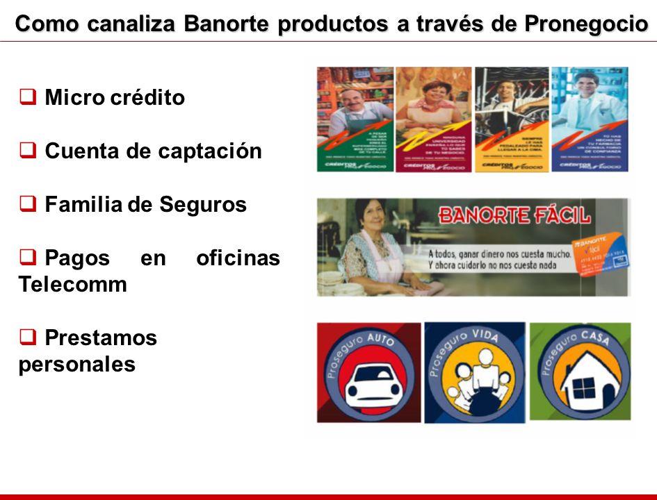Como canaliza Banorte productos a través de Pronegocio