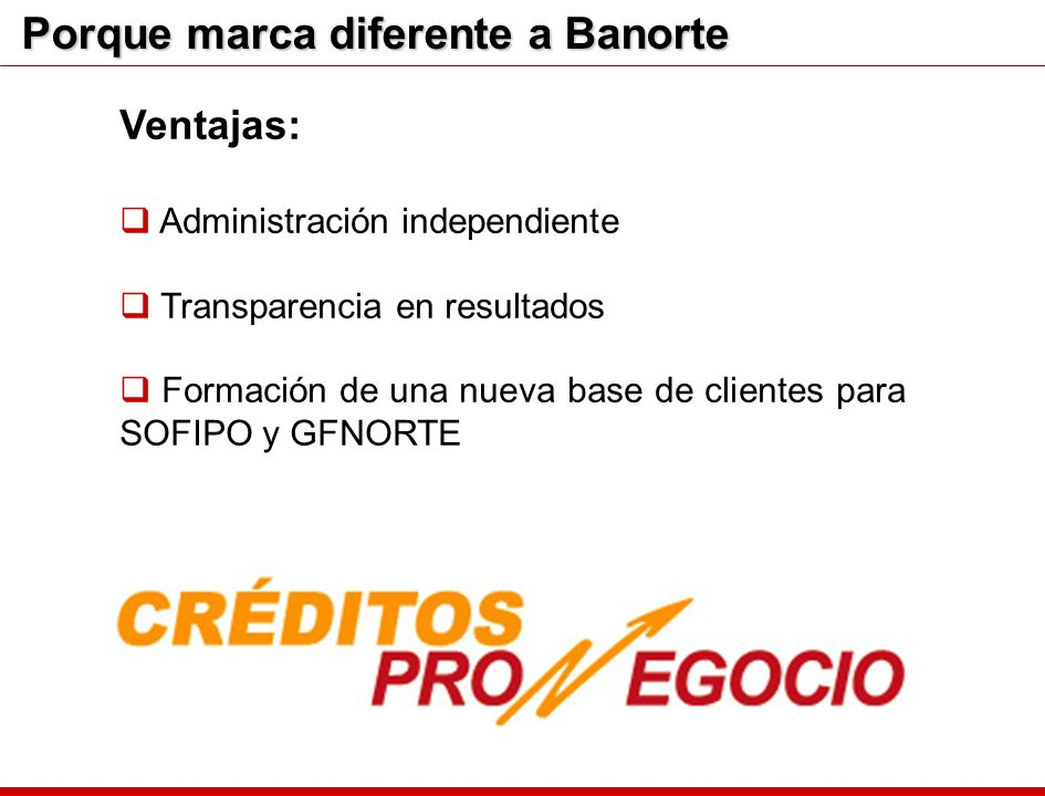 Porque marca diferente a Banorte