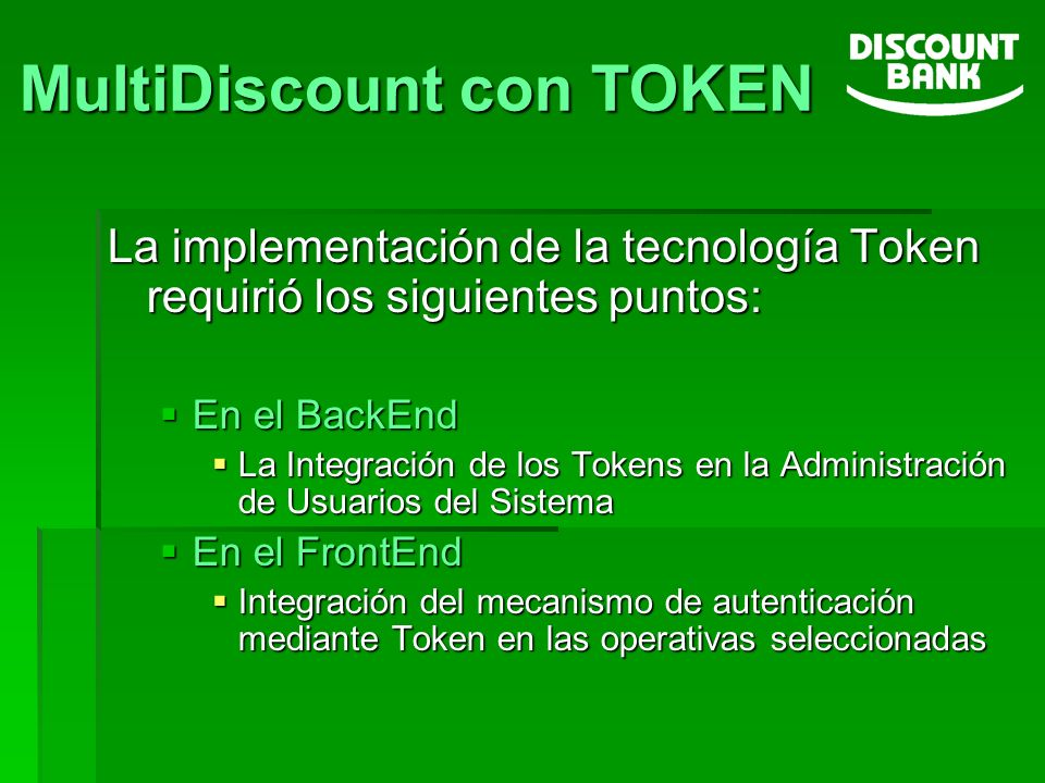 MultiDiscount con TOKEN