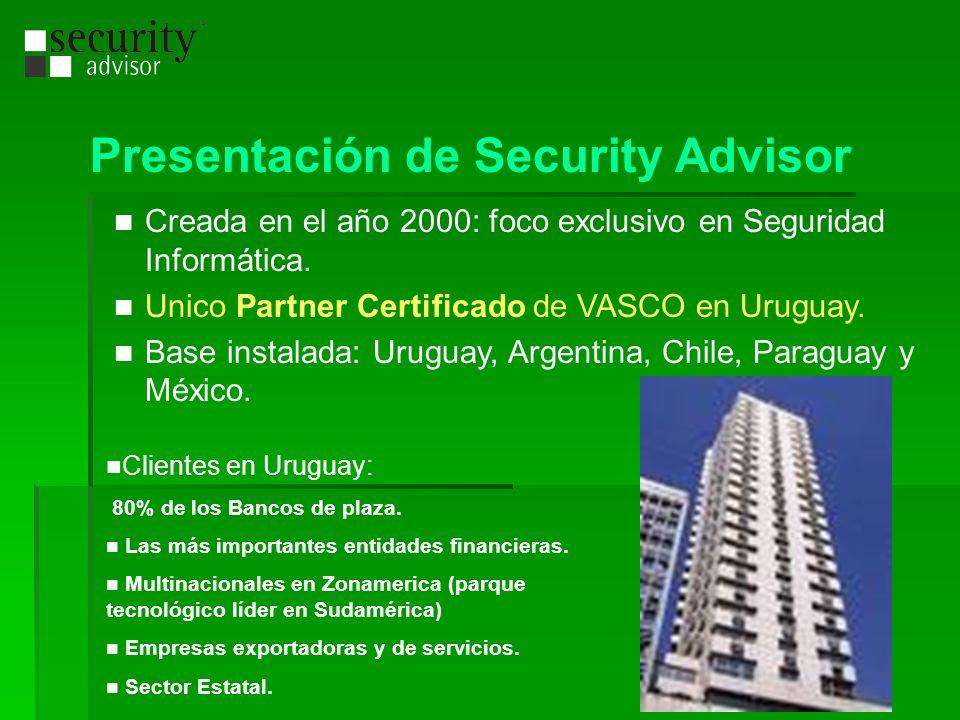 Presentación de Security Advisor