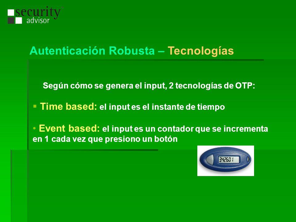 Autenticación Robusta – Tecnologías