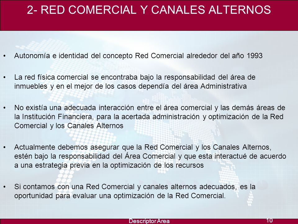 2- RED COMERCIAL Y CANALES ALTERNOS