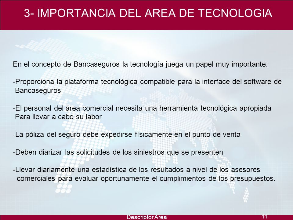 3- IMPORTANCIA DEL AREA DE TECNOLOGIA