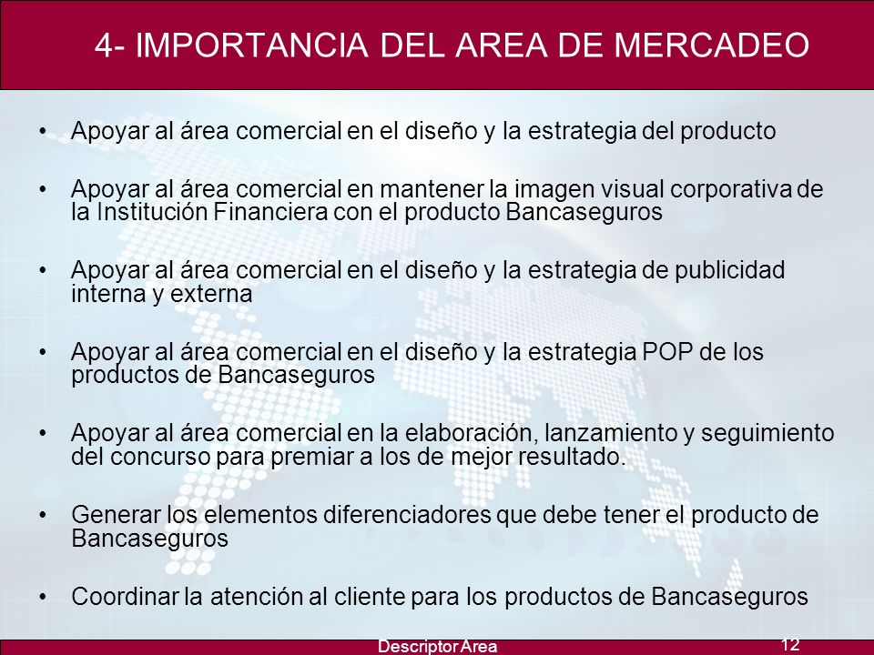 4- IMPORTANCIA DEL AREA DE MERCADEO
