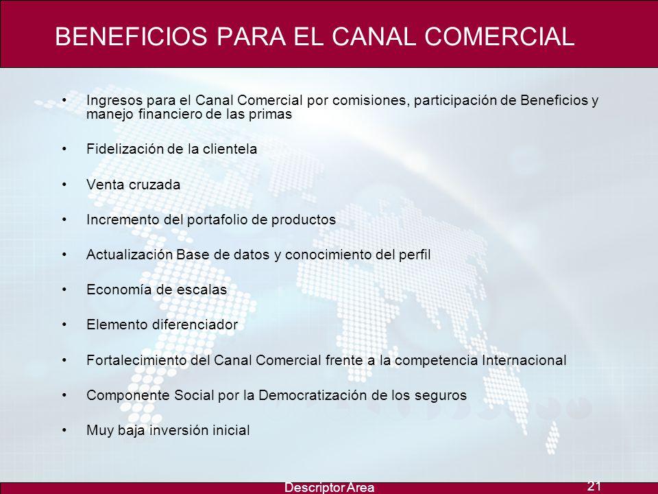 BENEFICIOS PARA EL CANAL COMERCIAL