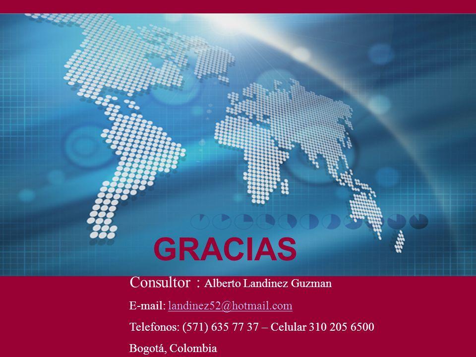 GRACIAS Consultor : Alberto Landinez Guzman