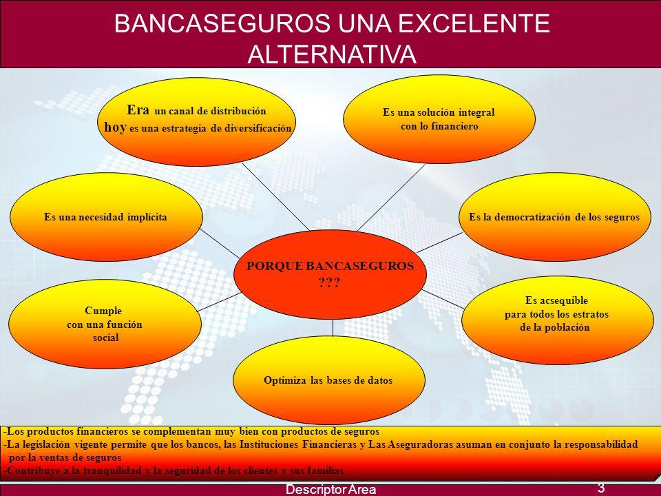BANCASEGUROS UNA EXCELENTE ALTERNATIVA