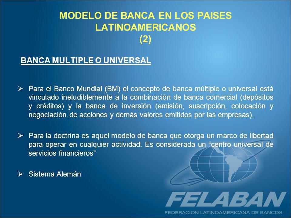 MODELO DE BANCA EN LOS PAISES LATINOAMERICANOS (2)