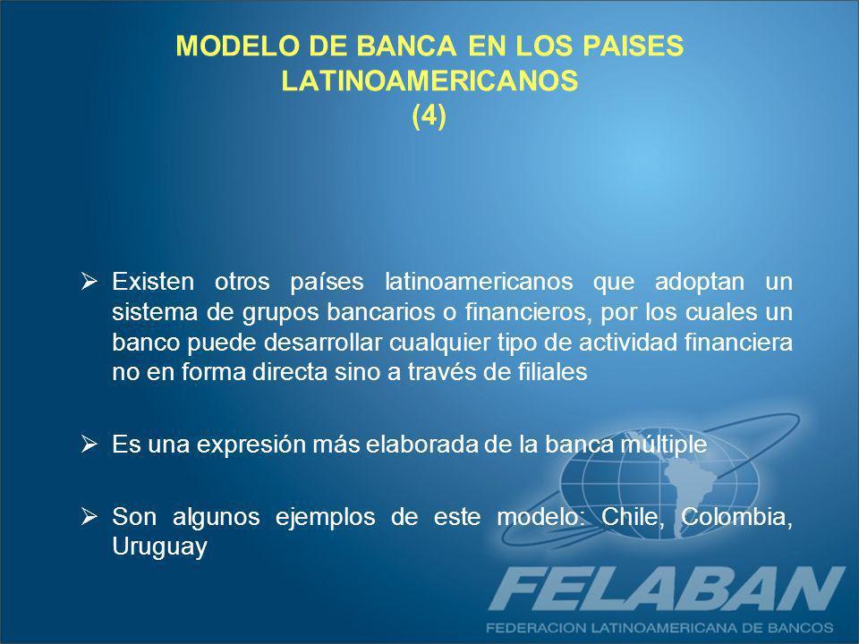 MODELO DE BANCA EN LOS PAISES LATINOAMERICANOS (4)
