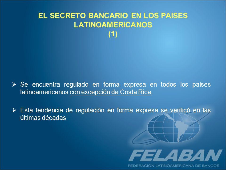 EL SECRETO BANCARIO EN LOS PAISES LATINOAMERICANOS (1)