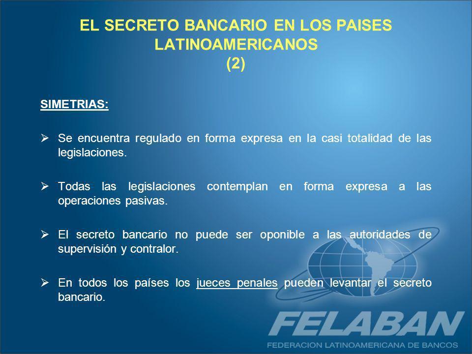 EL SECRETO BANCARIO EN LOS PAISES LATINOAMERICANOS (2)