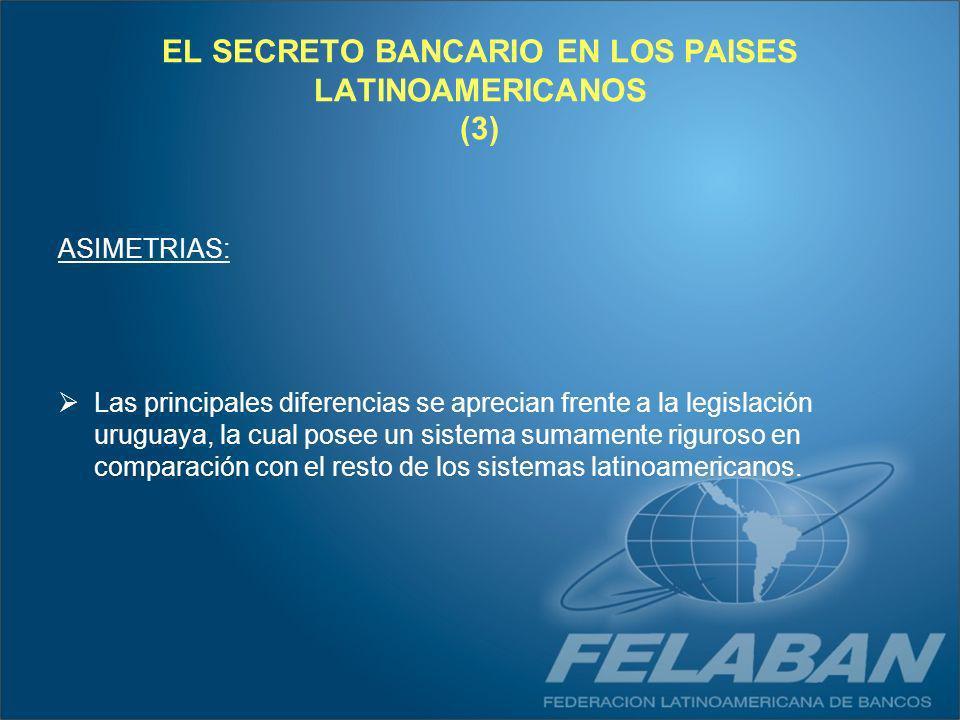 EL SECRETO BANCARIO EN LOS PAISES LATINOAMERICANOS (3)