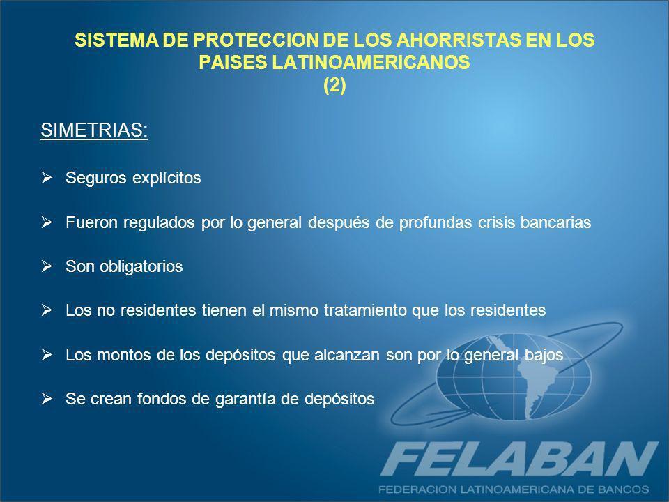 SISTEMA DE PROTECCION DE LOS AHORRISTAS EN LOS PAISES LATINOAMERICANOS (2)