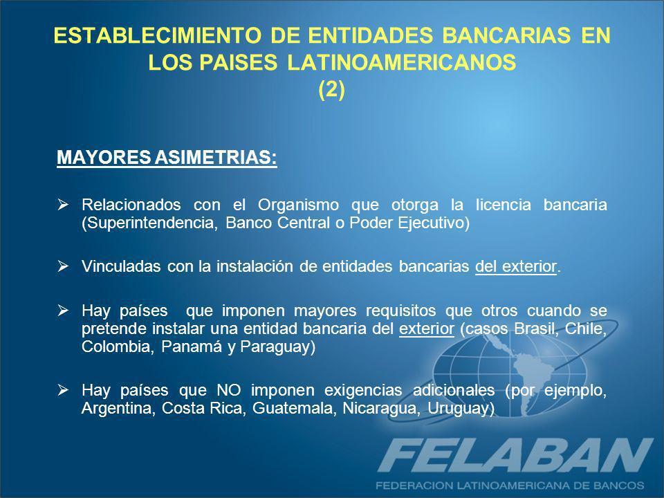 ESTABLECIMIENTO DE ENTIDADES BANCARIAS EN LOS PAISES LATINOAMERICANOS (2)