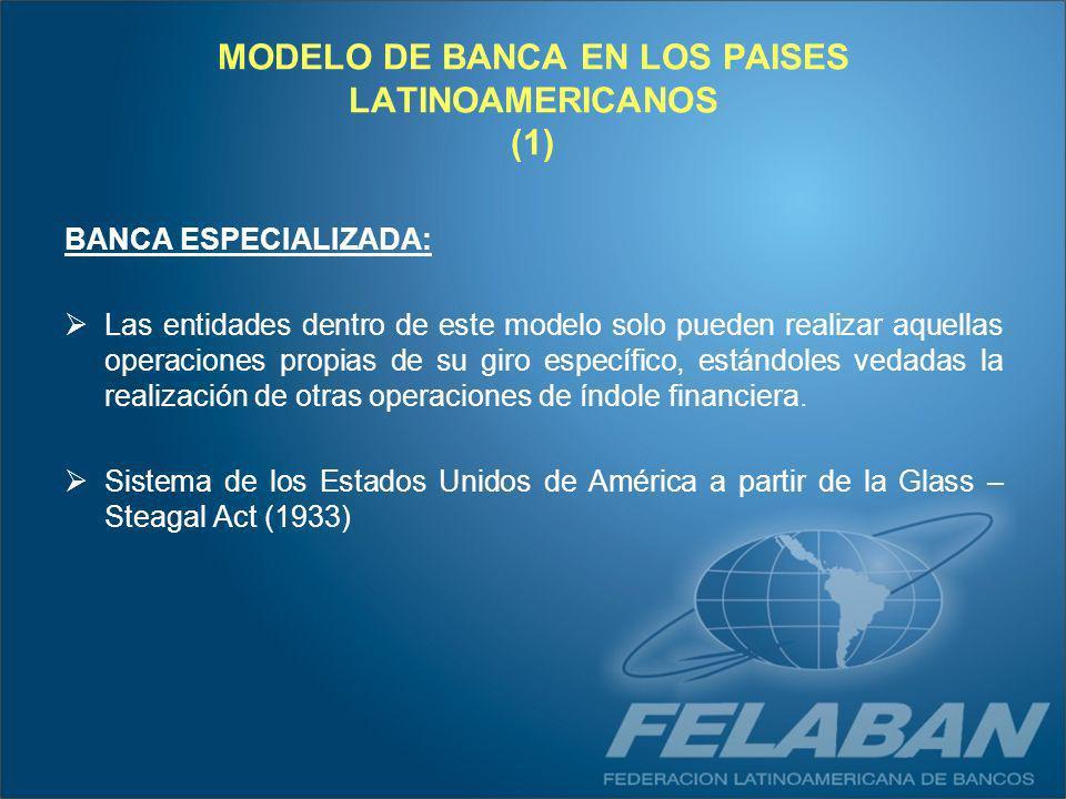 MODELO DE BANCA EN LOS PAISES LATINOAMERICANOS (1)