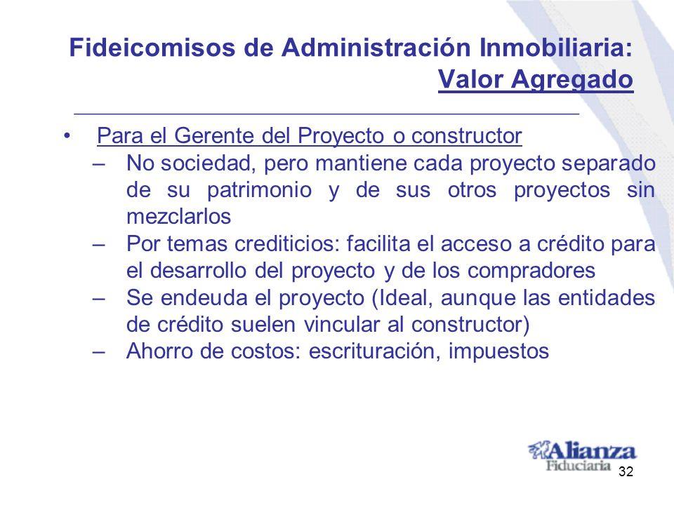 Fideicomisos de Administración Inmobiliaria: Valor Agregado