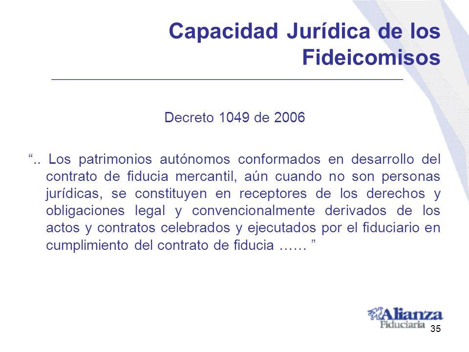 Capacidad Jurídica de los Fideicomisos