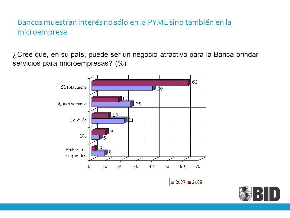Bancos muestran interés no sólo en la PYME sino también en la microempresa