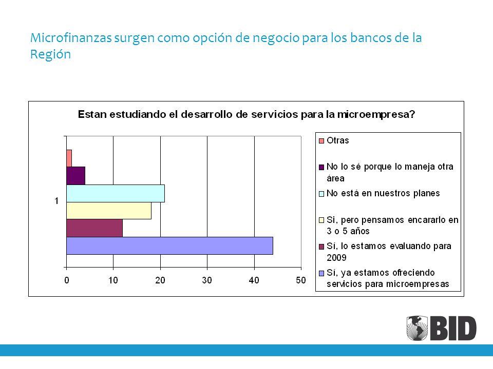 Microfinanzas surgen como opción de negocio para los bancos de la Región