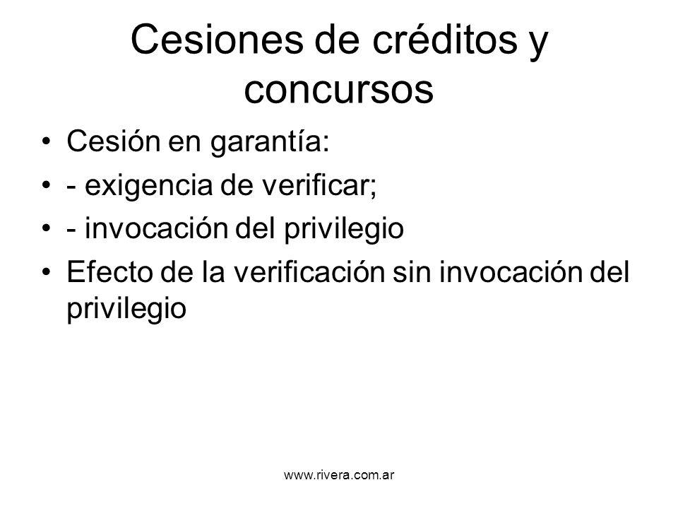 Cesiones de créditos y concursos