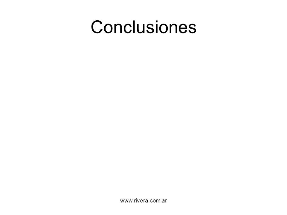Conclusiones www.rivera.com.ar