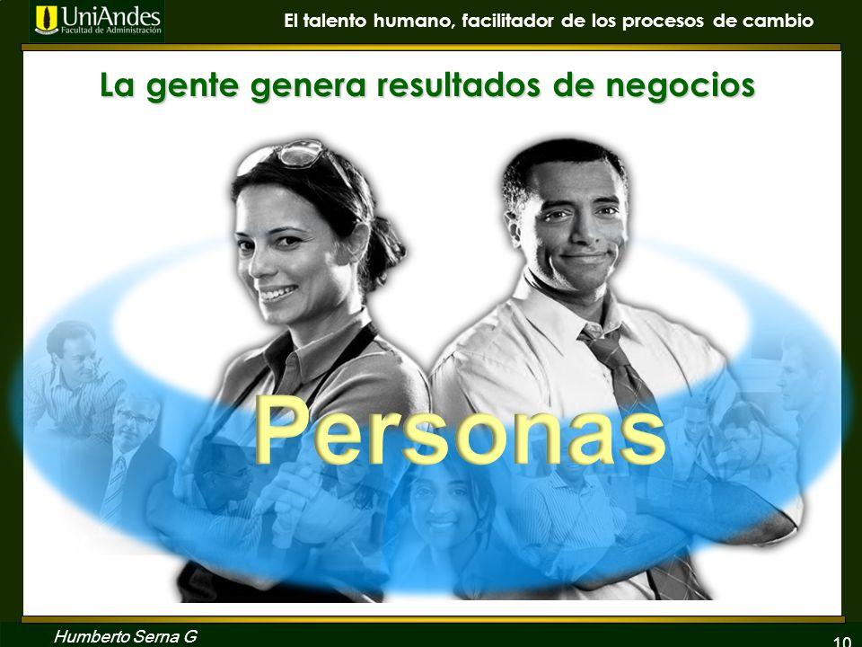 La gente genera resultados de negocios