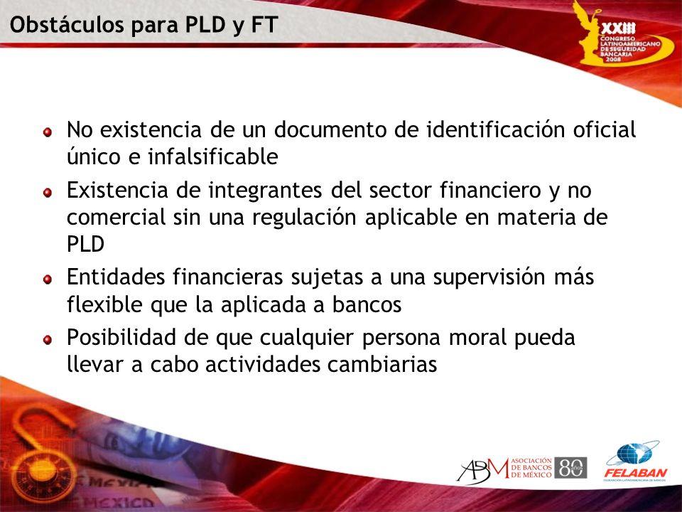 Obstáculos para PLD y FT