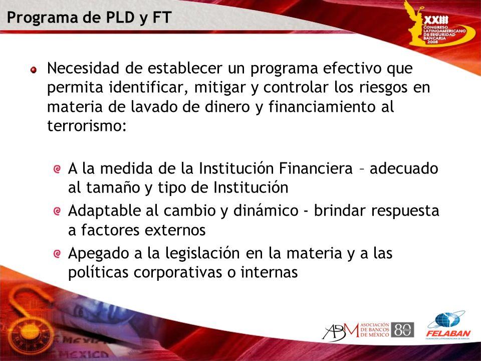 Programa de PLD y FT
