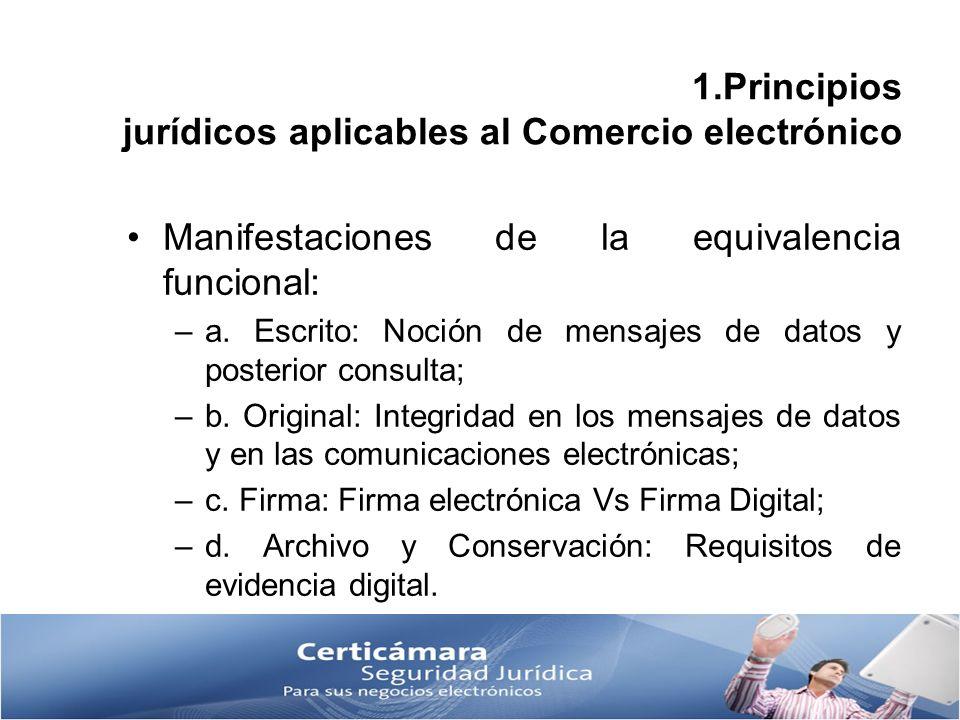 1.Principios jurídicos aplicables al Comercio electrónico