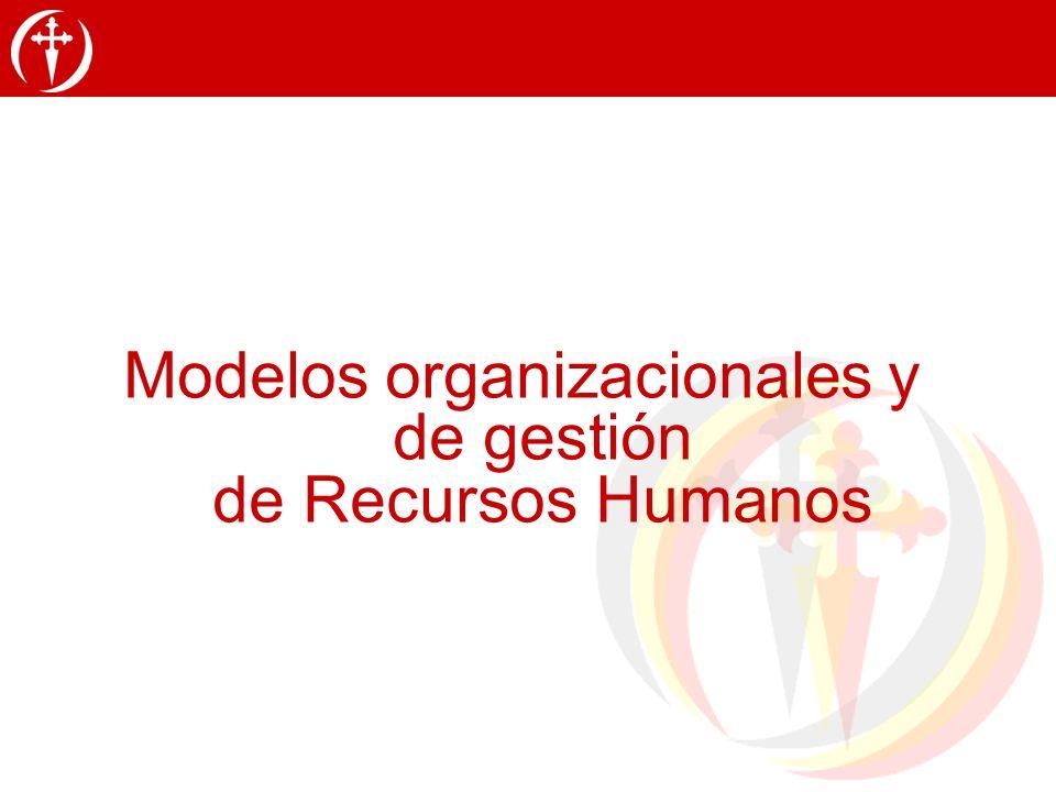 Modelos organizacionales y de gestión de Recursos Humanos