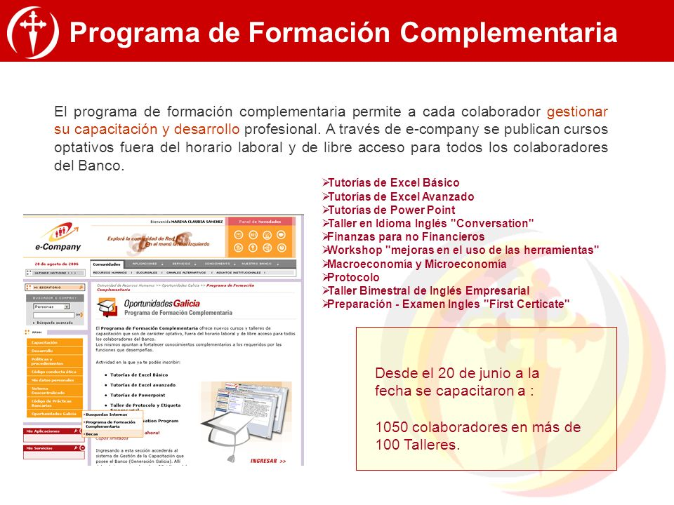 Programa de Formación Complementaria