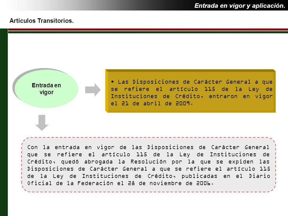 Entrada en vigor y aplicación. Proyecto de Reforma