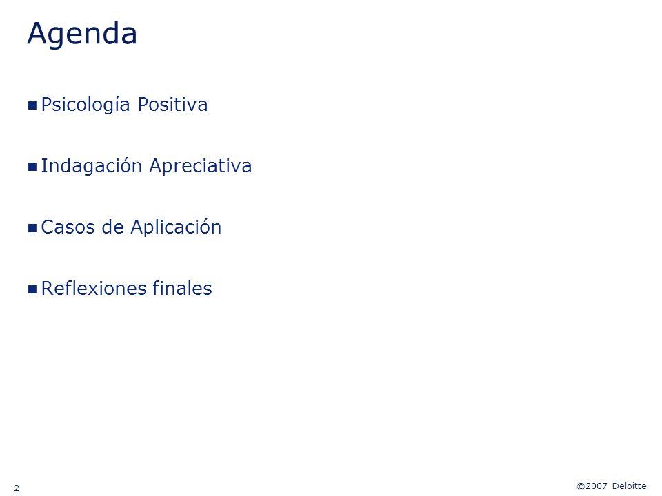Agenda Psicología Positiva Indagación Apreciativa Casos de Aplicación