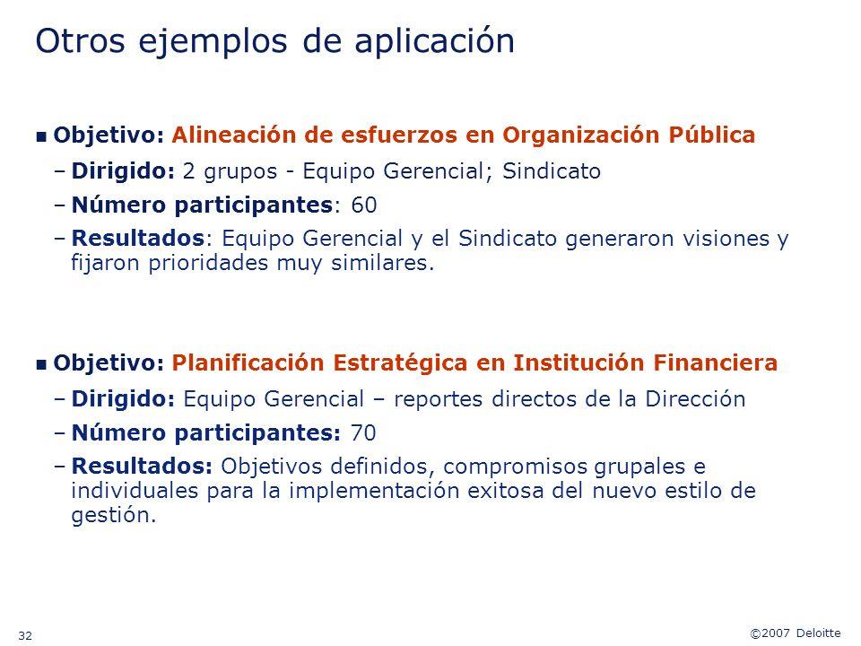 Otros ejemplos de aplicación