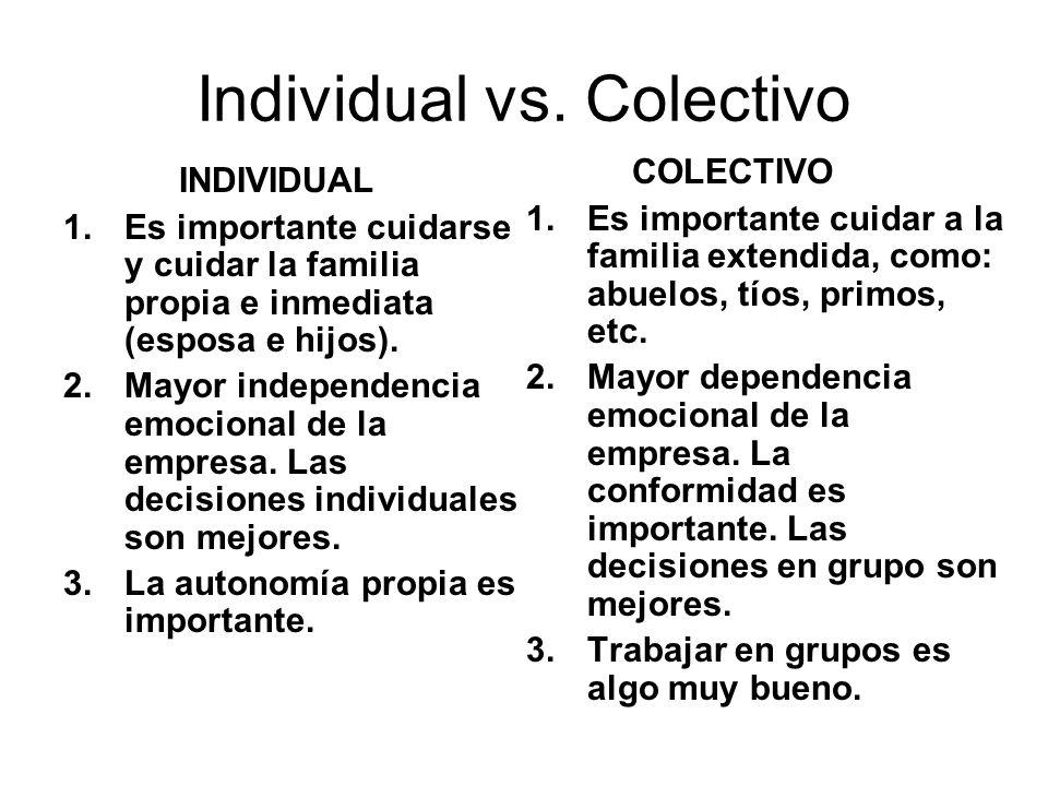 Individual vs. Colectivo