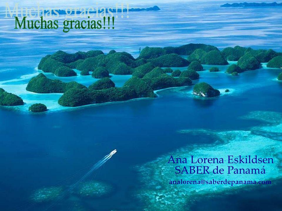 Muchas gracias!!! Ana Lorena Eskildsen SABER de Panamá