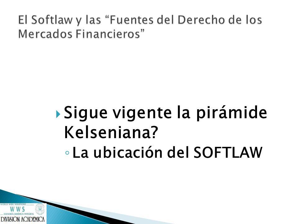 El Softlaw y las Fuentes del Derecho de los Mercados Financieros